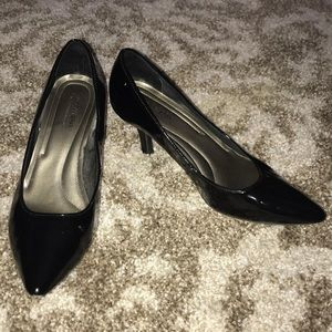 Patent Leather Pointy Black Heels